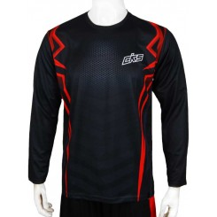 jersey cks black - red panjang