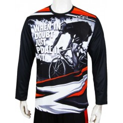 jersey cks just pedal it - black panjang