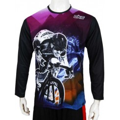 jersey cks mountain bike - purple panjang