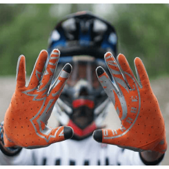 sarung tangan new darabel silver orange