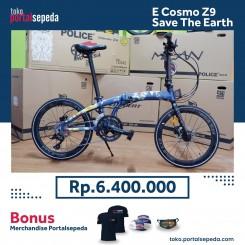 sepeda lipat element ecosmo z9 save the earth bonus merchandise portal sepeda