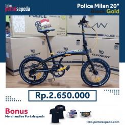 sepeda lipat police milan  black gold bonus merchandise portal sepeda